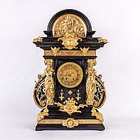Монументальные кабинетные часы в стиле Наполеона III. Lenzkirch. Германия. 1882 год.