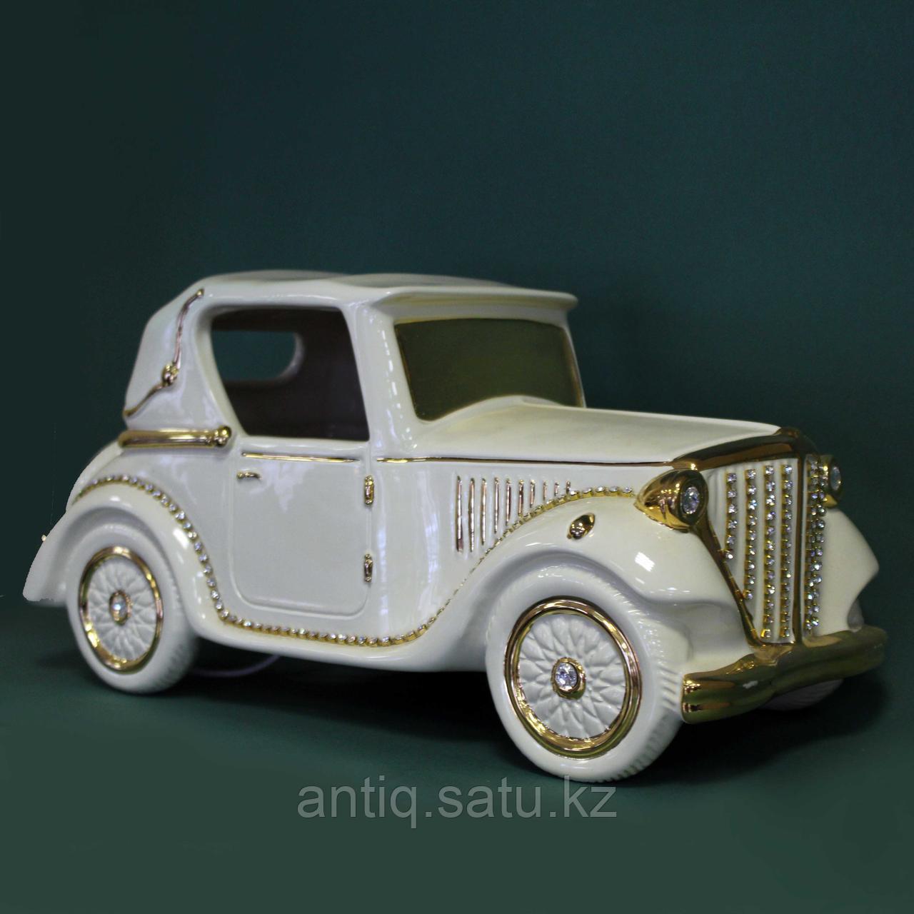 Светильник. Ретро-автомобиль с кристаллами сваровски. Фарфор - фото 1