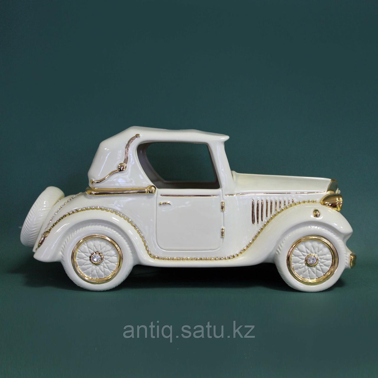Светильник. Ретро-автомобиль с кристаллами сваровски. Фарфор - фото 2