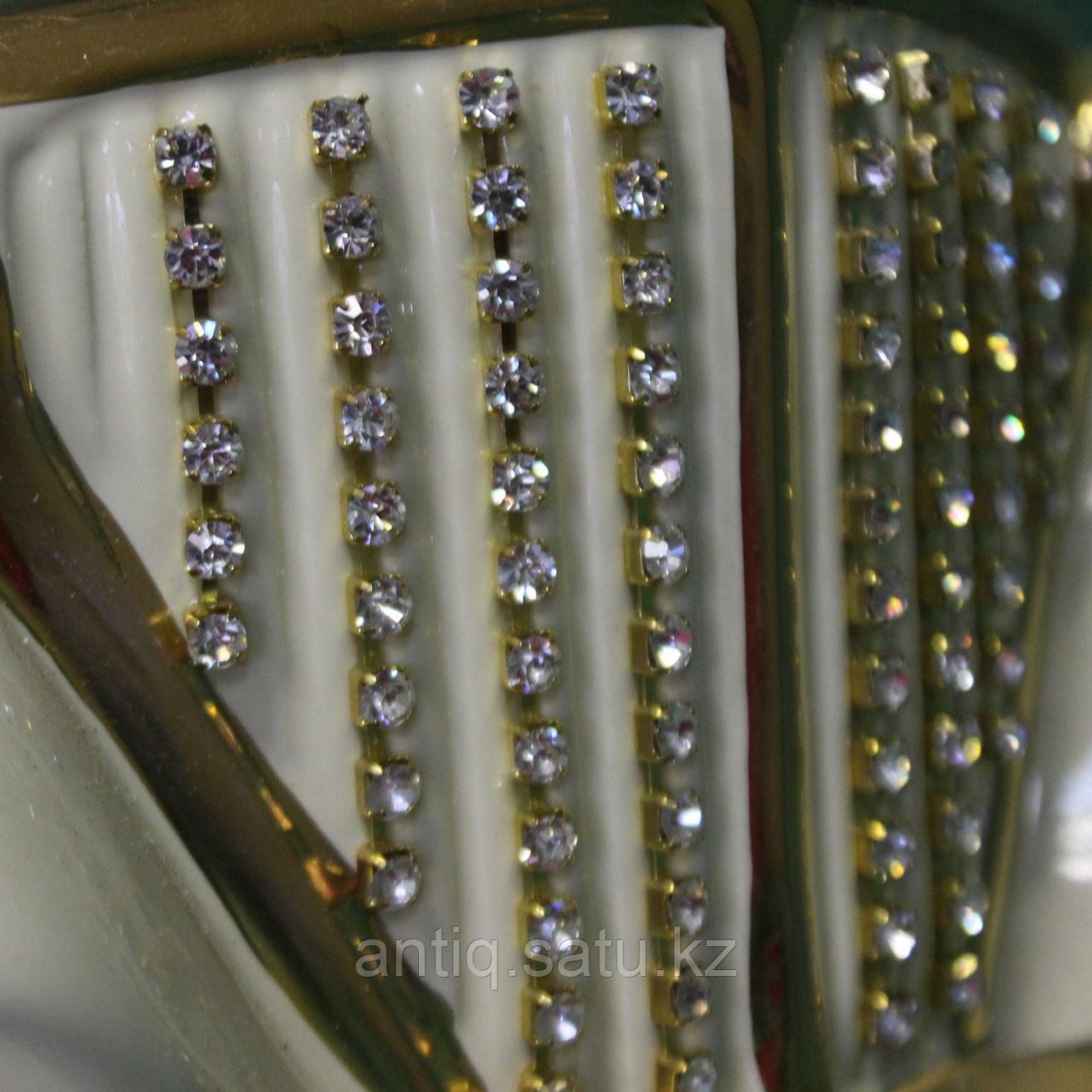 Светильник. Ретро-автомобиль с кристаллами сваровски. Фарфор - фото 3