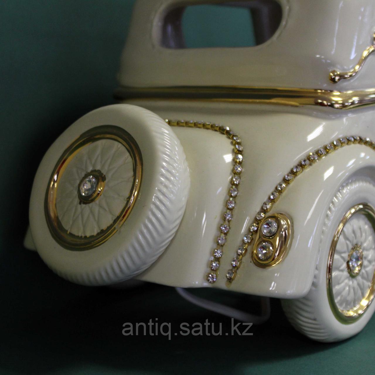 Светильник. Ретро-автомобиль с кристаллами сваровски. Фарфор - фото 4
