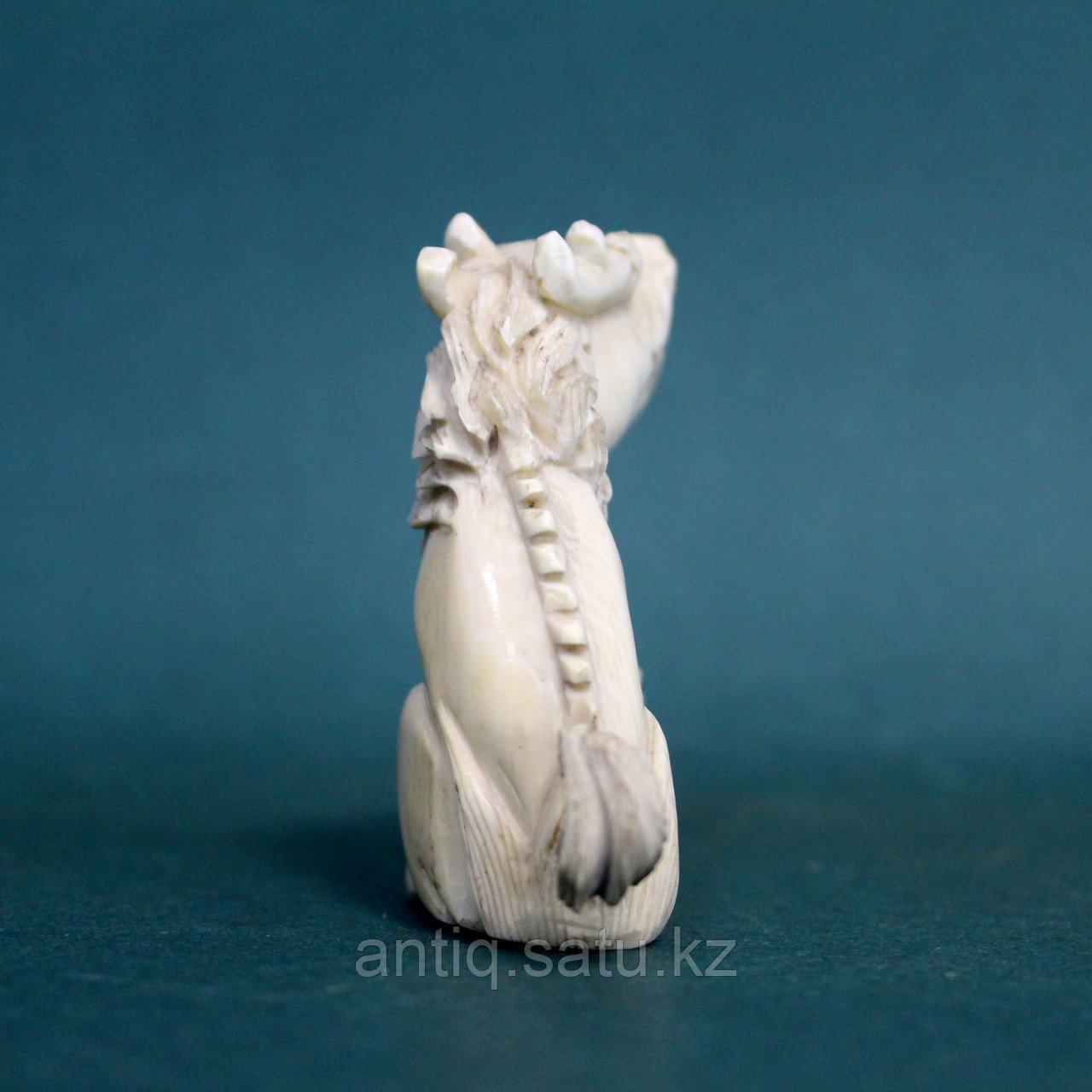 Слоновая кость. Карасиси Фо - небесный лев Будды. 52гр. - фото 2