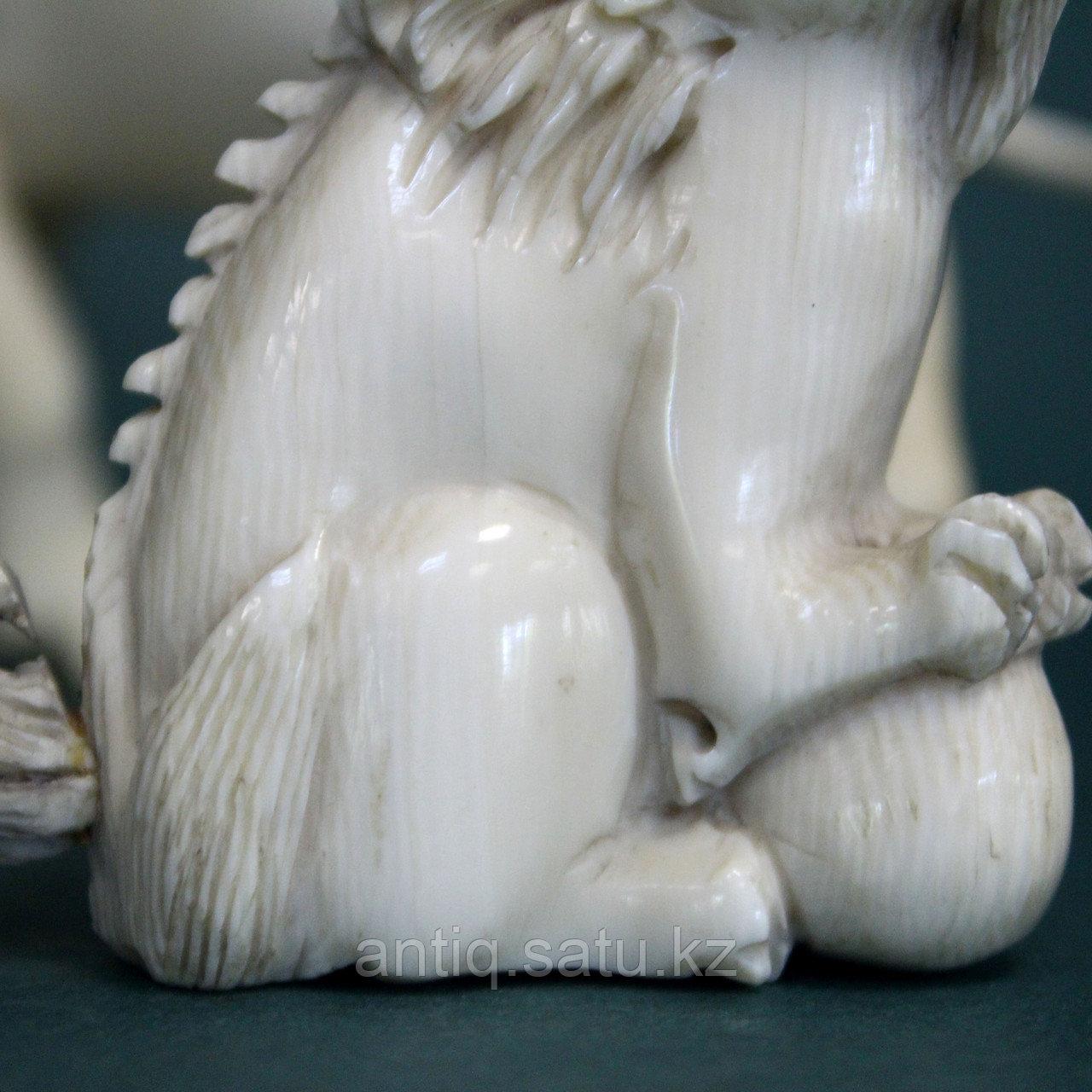Слоновая кость. Карасиси Фо - небесный лев Будды. 52гр. - фото 7