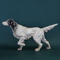 Фигура охотничьей собаки в стойке. Отличный подарок для охотника.