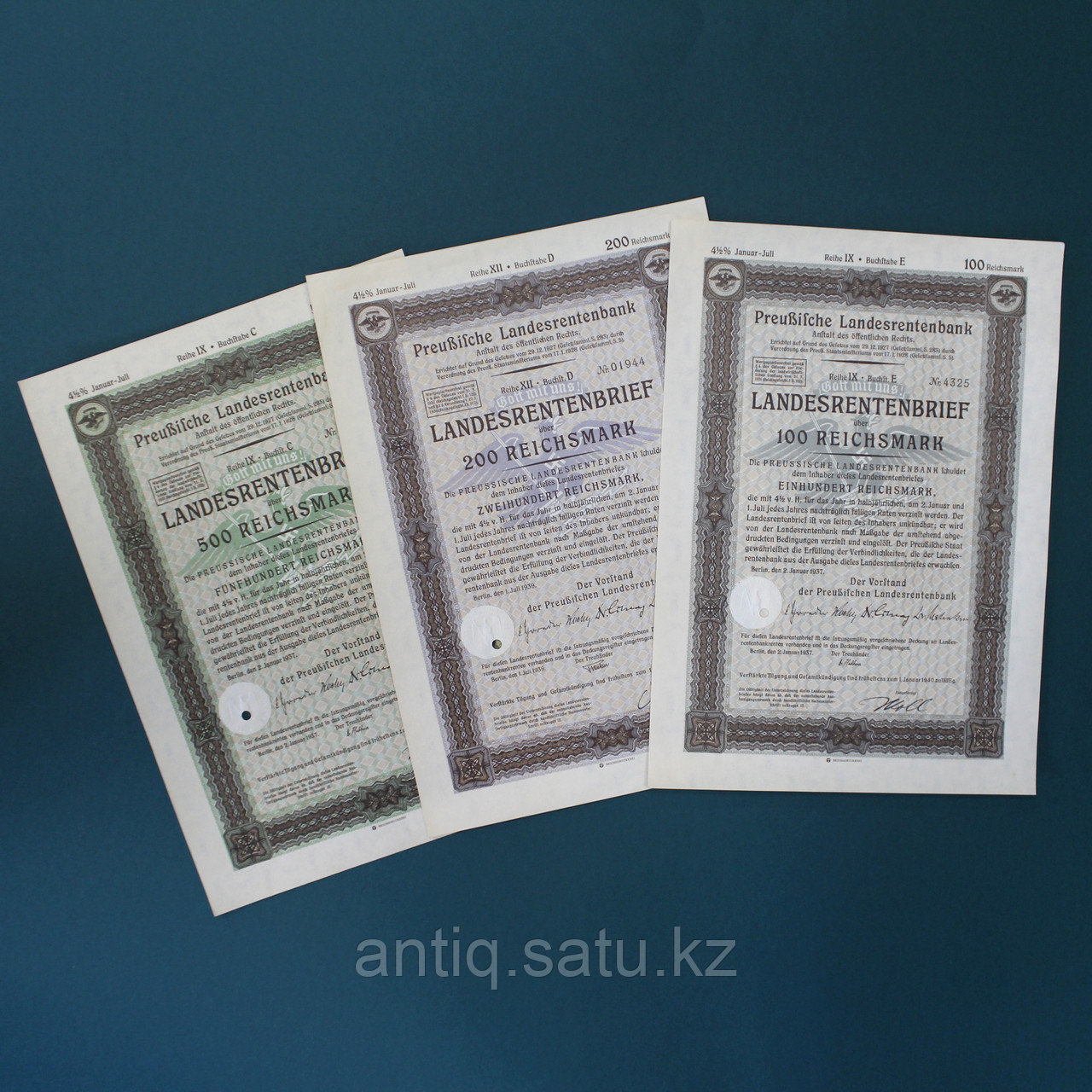Ценные бумаги Третьего Рейха. 1940-е годы. - фото 1