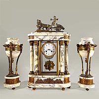 Часовой гарнитур «Колесница со львами»