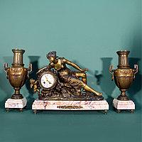 Часовой гарнитур в стиле Историзм Часовая мастерская Ad. Mougin Скульптор Emile Bruchon