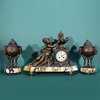 Часовой гарнитур в стиле Историзм Часовая мастерская S. Marti Скульптор Hippolyte Francois Moreau (1832-19