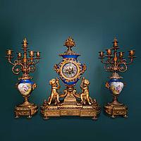 Часовой гарнитур в стиле Людовика XV Часовая мастерская Vassy Jeune