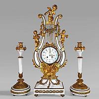 Часовой гарнитур в стиле Людовика XVI Часовая мастерская S. Marti Франция. II половина XIX века