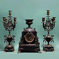 Часовой гарнитур в стиле Наполеона III Часовая мастерская Japy Freres
