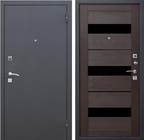 Металлические двери Царга СБ-1 темный кипарис