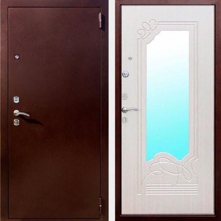 Двери входные металлические Гарда Ампир белый ясень