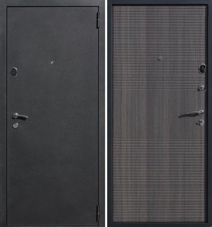 Дверь входная металлическая утепленная Штрих грей