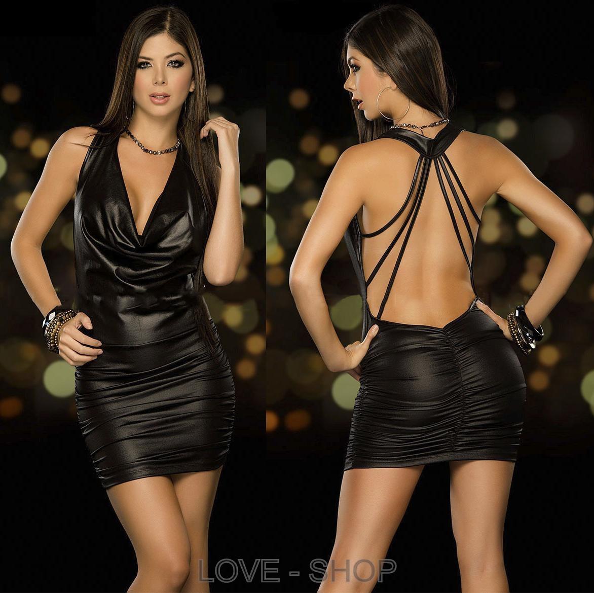 Красивое платье под кожу.