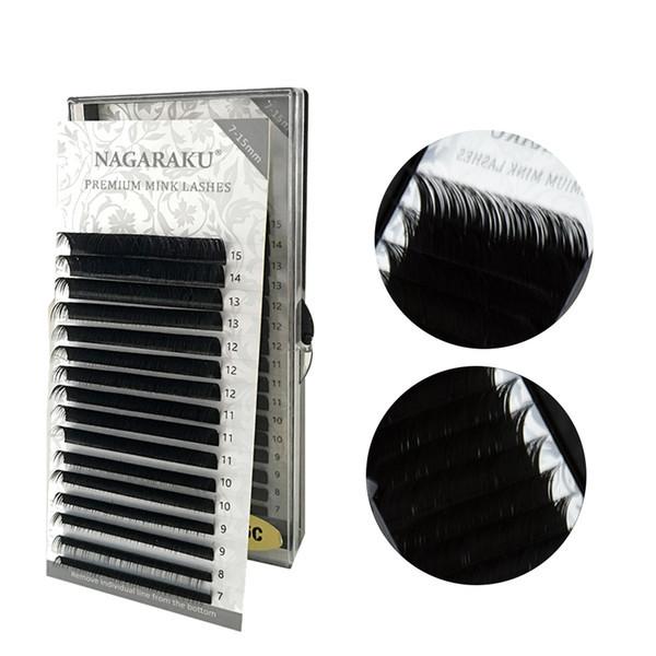 Ресницы Nagaraku Mix 0.07 C (7-15 mm)