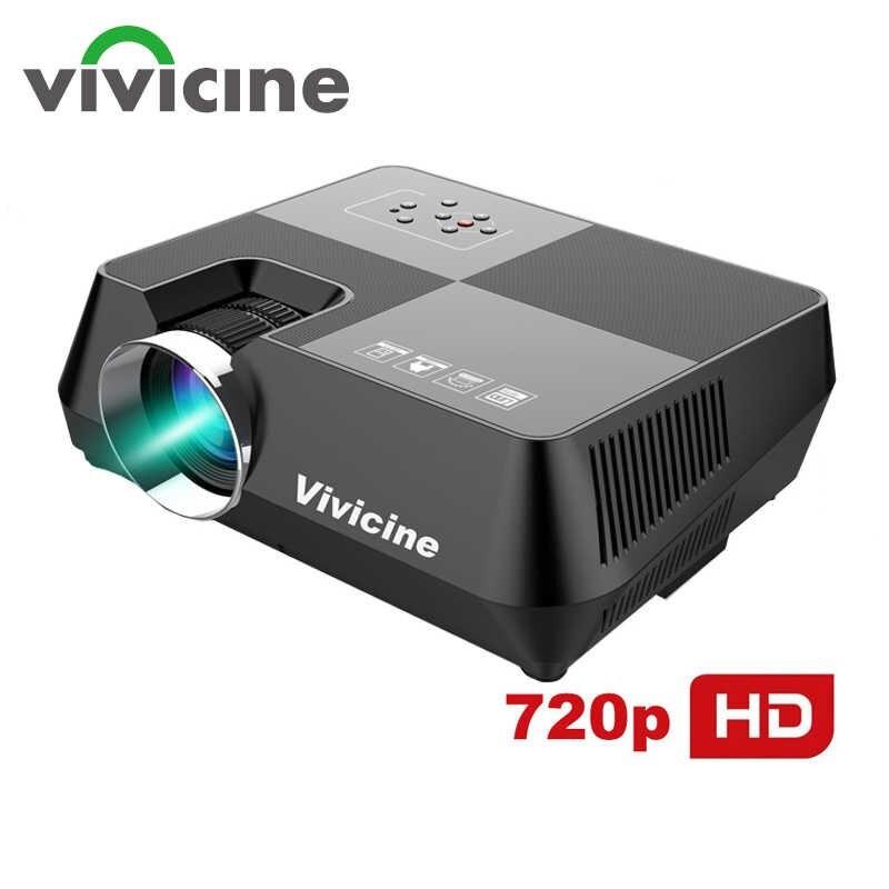 Vivicine 720P HD светодиодный портативный проектор