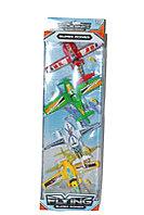 555-4 НЕМНОГО ПОМЯТАЯ!!! Самолеты  FLYING SUPER POWER 4 в 1 муз. 58*19