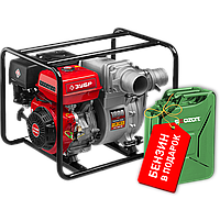 Мотопомпа бензиновая, ЗУБР, 1800 л/мин (108 м3/ч), для грязной воды, напор 26 м, всасывание 8 м (МПГ-1800-100)
