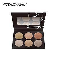 Палитра сухих хайлайтеров STARWAY Six Color Highlighter