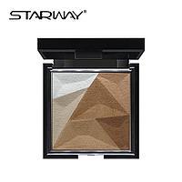 Ультрамягкий хайлайтер STARWAY Ultra Soft Contour Powder Kit №12402