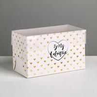 Коробка для капкейка Be my Valentine, 16 x 8 x 10 см (комплект из 10 шт.)