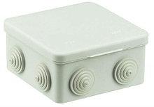Коробка распределительная средняя - 100 х 100 х 50 мм., IP55, с кабельными вводами.