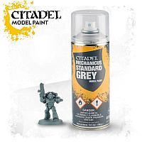 Spray: Mechanicus standard grey (Грунтовка: Стандартный Серый Меканикус). 400 мл.