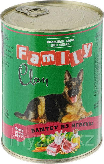 CLAN FAMILY влажный корм для собак всех пород паштет  из Ягненка 970 гр