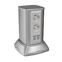 Миниколонна алюминиевая 0,25 м, цвет светло-серебристый металлик DKC