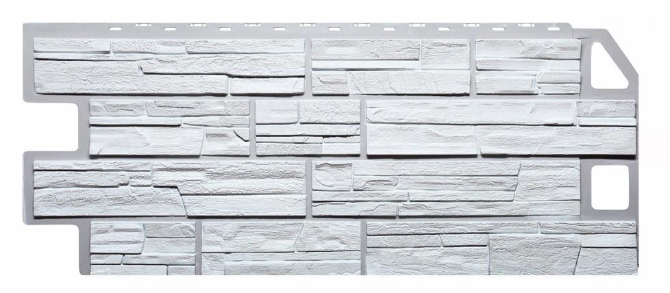 Фасадные панели Белый 1130x470 мм Сланец FINEBER