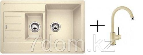 Комплект Blanco Legra 6S Compact Silgranit жасмин + Mida жасмин  521305M2 (521305 + 524205), фото 2
