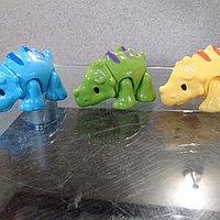 Заводные животные Динозаврики 3 цвета