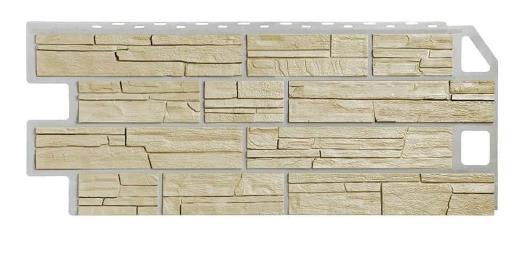 Фасадные панели Песочный 1130x470 мм (0,45 м2) Сланец FINEBER