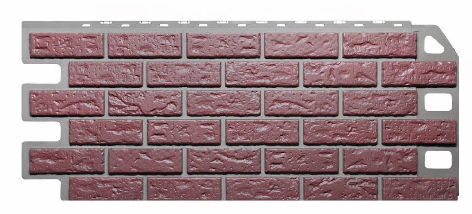 Фасадные панели Красный 1130x470 мм КИРПИЧ  FINEBER