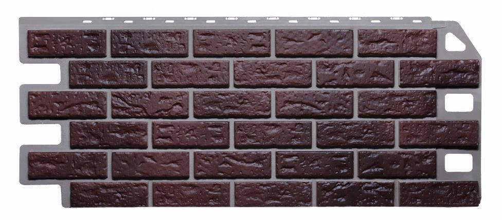 Фасадные панели Жженый 1130x470 мм КИРПИЧ  FINEBER