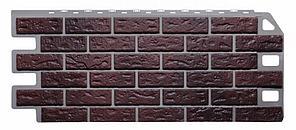 Фасадные панели Жженый 1130x470 мм (0,45 м2) КИРПИЧ  FINEBER
