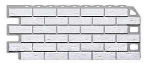 Фасадные панели Белый 1130x470 мм КИРПИЧ  FINEBER