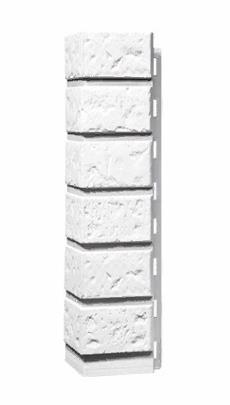 Угол Наружный Мелованный белый 470х115х155 мм КИРПИЧ FINEBER