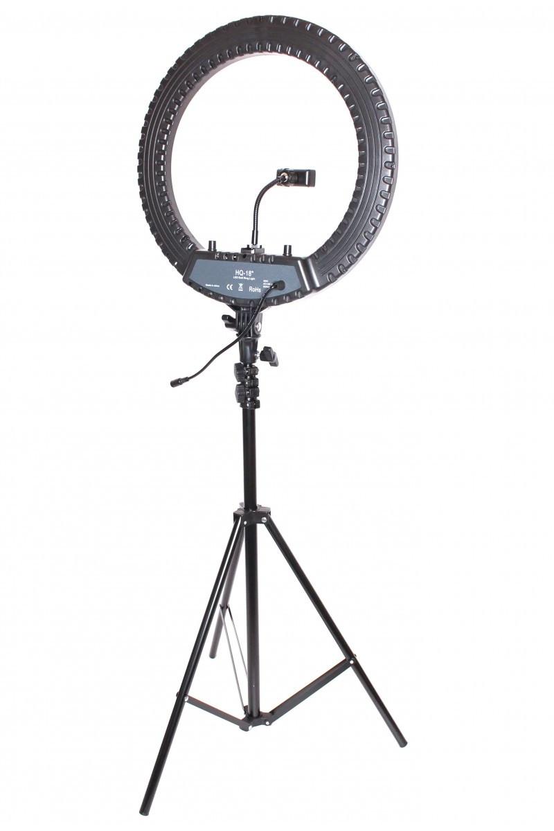 Селфи лампа, кольцевая на подставке с зажимом для телефона 48 СМ
