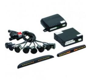 Комплект парковочных датчиков (парктроники) STEEL MATE PTS 800 MM (BLACK/SILVER)-8 датчиков (4+4), фото 2