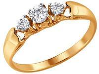 Золотое кольцо SOKOLOV 1011341_17