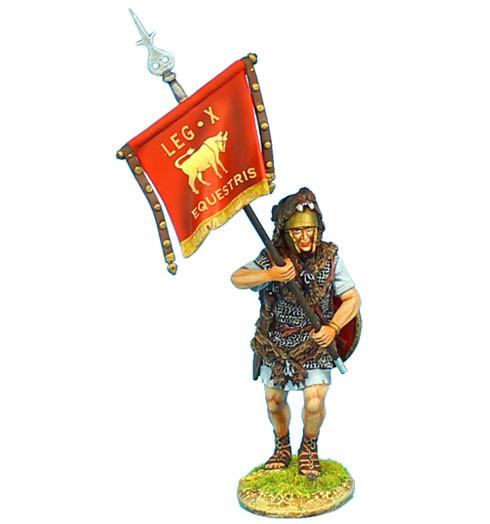 Коллекционный солдатик. Слава Рима. Вексиллярий X Легиона «Гемина» Имперской армии