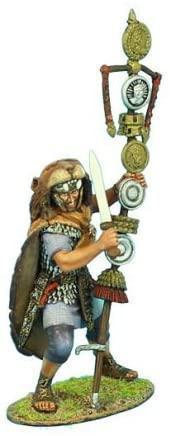 Коллекционный солдатик. Слава Рима. Сигнифер имперской гвардии с Сигнумом преторианской когорты