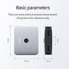 HDMI Свитч/Switch на 2 порта HAGIBIS | HDMI 2.0 разрешение до 4K 60 HZ, фото 3