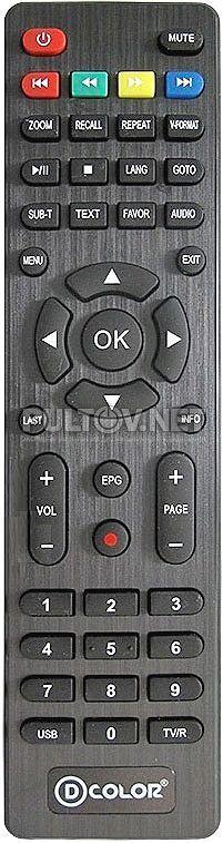 Пульт ДУ для цифрового ресивера D-color DC-1302HD DVB-T2