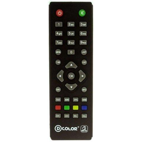 Пульт ДУ для цифрового ресивера D-color DC1201HD DVB-T2
