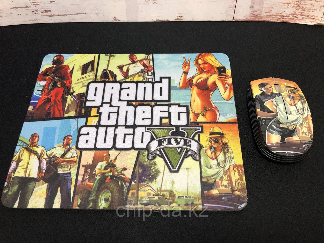 Мышь и коврик GTA 5 (Игровой набор)