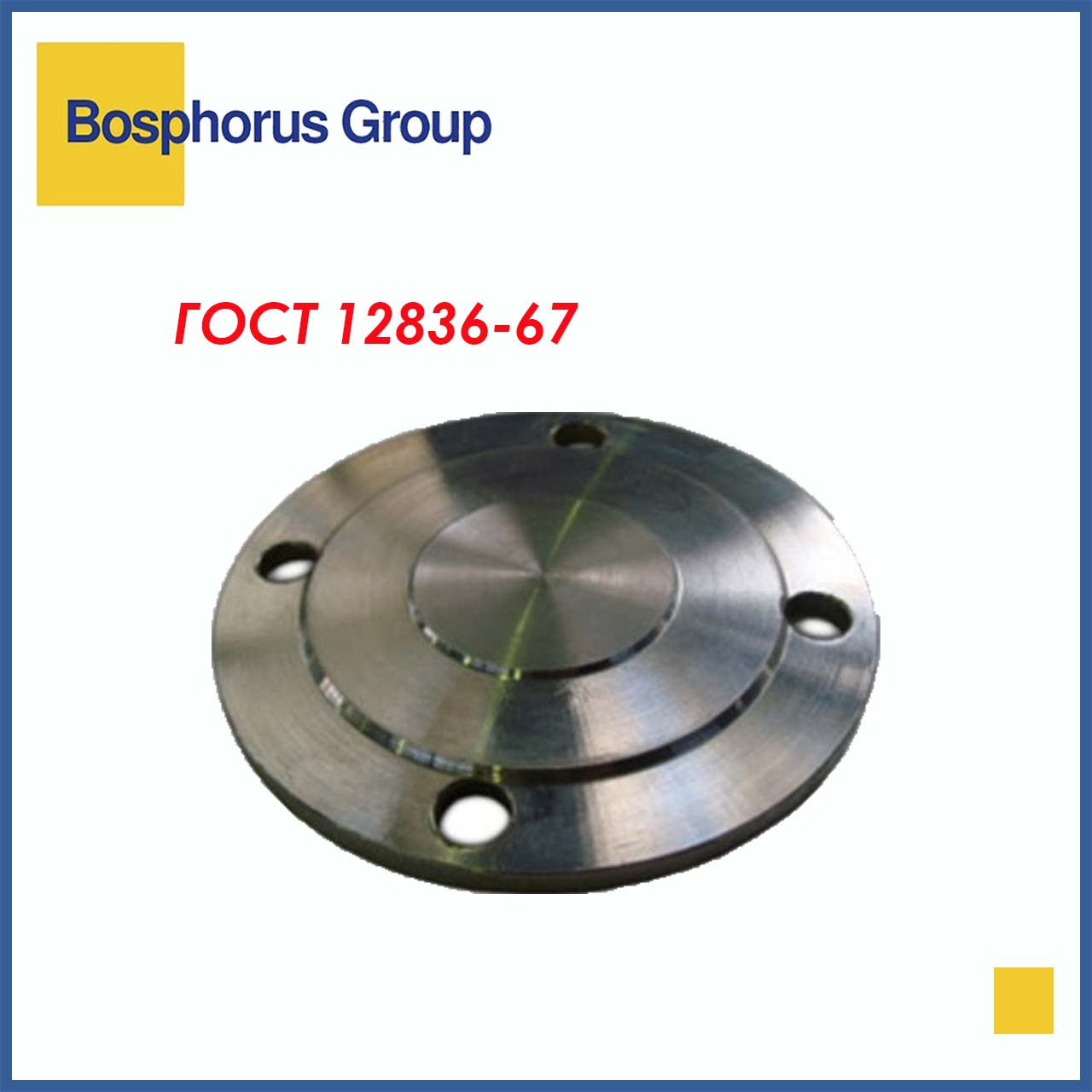 Заглушка фланцевая стальная Ду 250 Ру 16 (КНР)