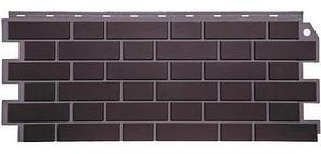 Фасадные панели Жженый 1130x463 мм ( 0,47 м2) Кирпич облицовочный   FINEBER